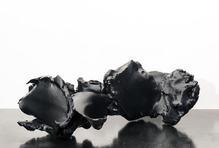 Spent Bullet [Black Rubber], 2015-16, ABS resin, rubber, 8 x 26 x 14 in.