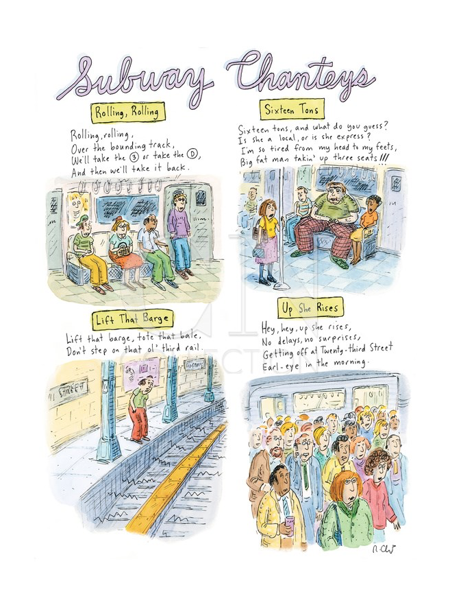 Roz Chast, Subway Chanteys, published March 13, 2009
