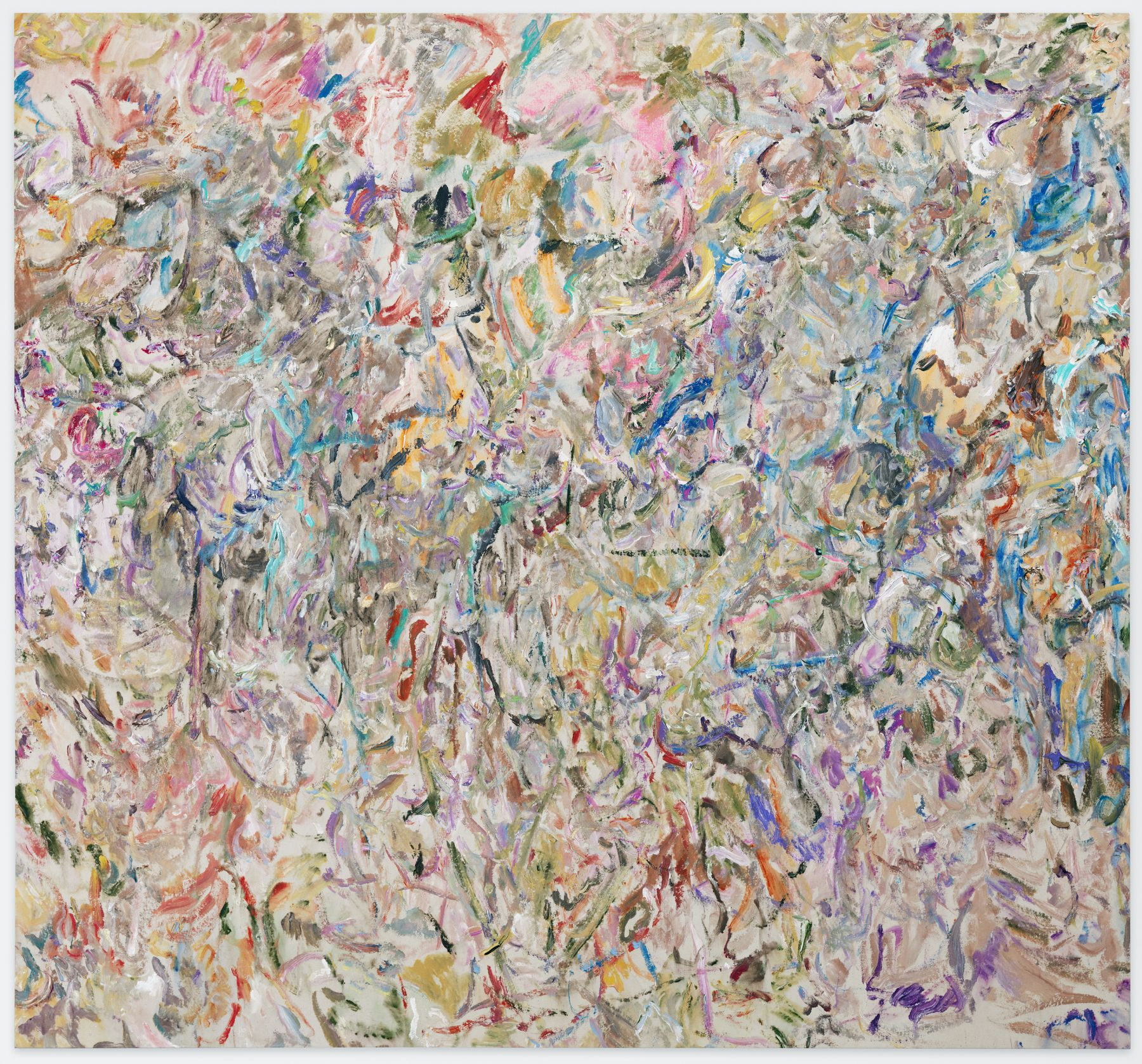 Larry Poons, Over the Hills, 2014, acrylic on canvas, 66 1/4 x 70 3/4 inches,