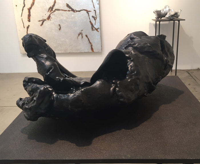 Spent Bullet [Black Rubber], 2015-16, resin, rubber