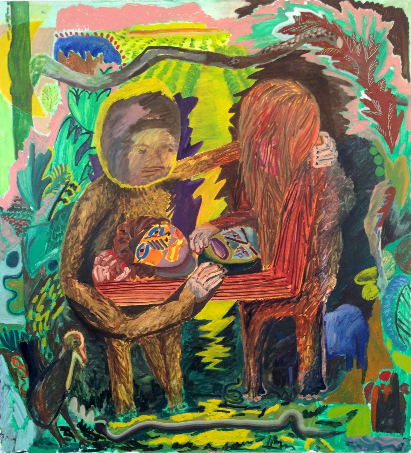"""Shara Hughes, Take a look at us now, 2014, 50 x 54"""""""