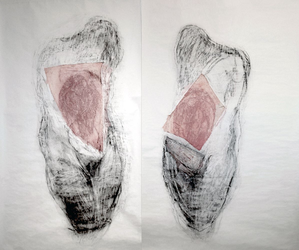 Two Laments Drawing Series (Diptych 1)
