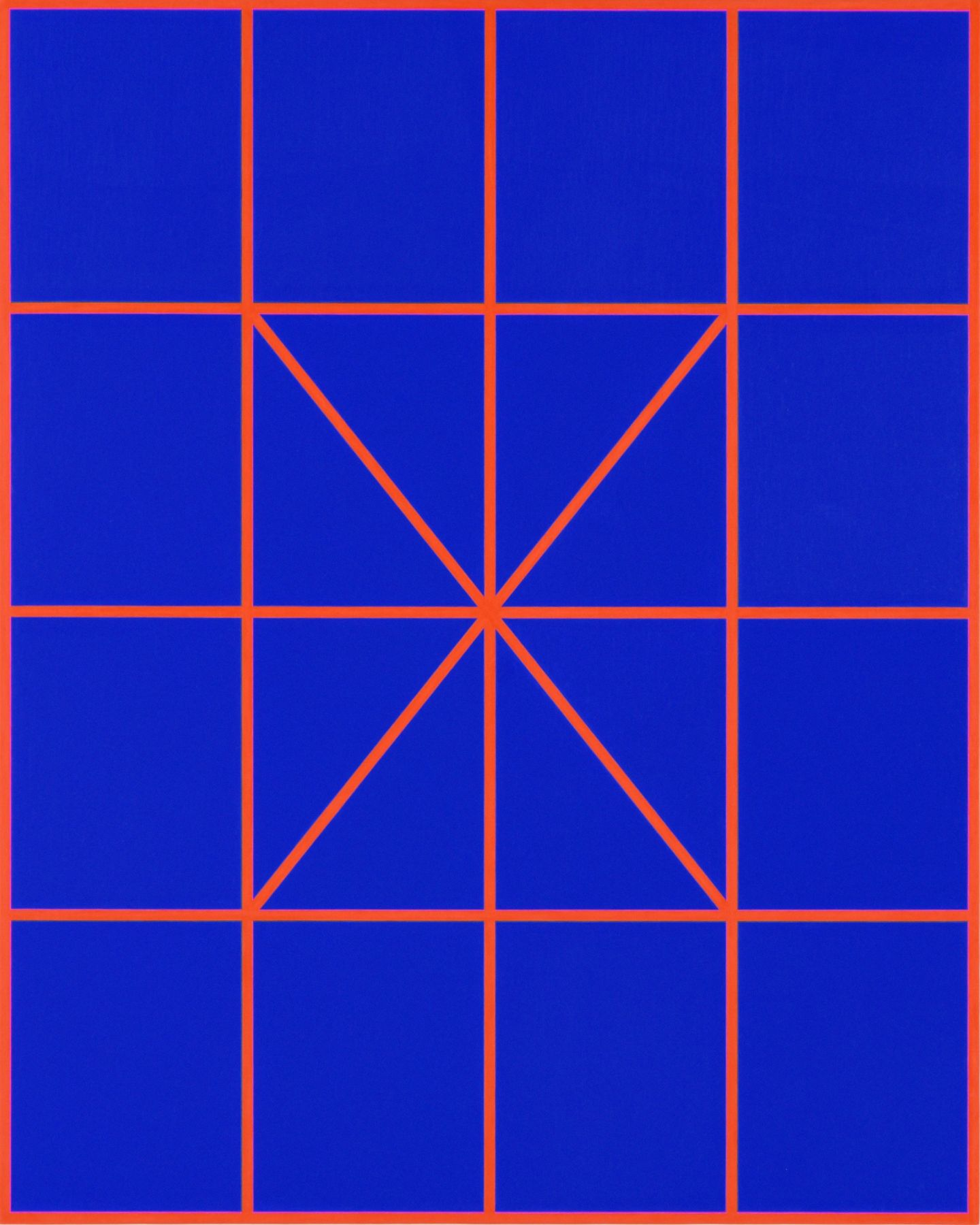 Cary Smith, Complex Diagonals #4 (blue-red), 2017