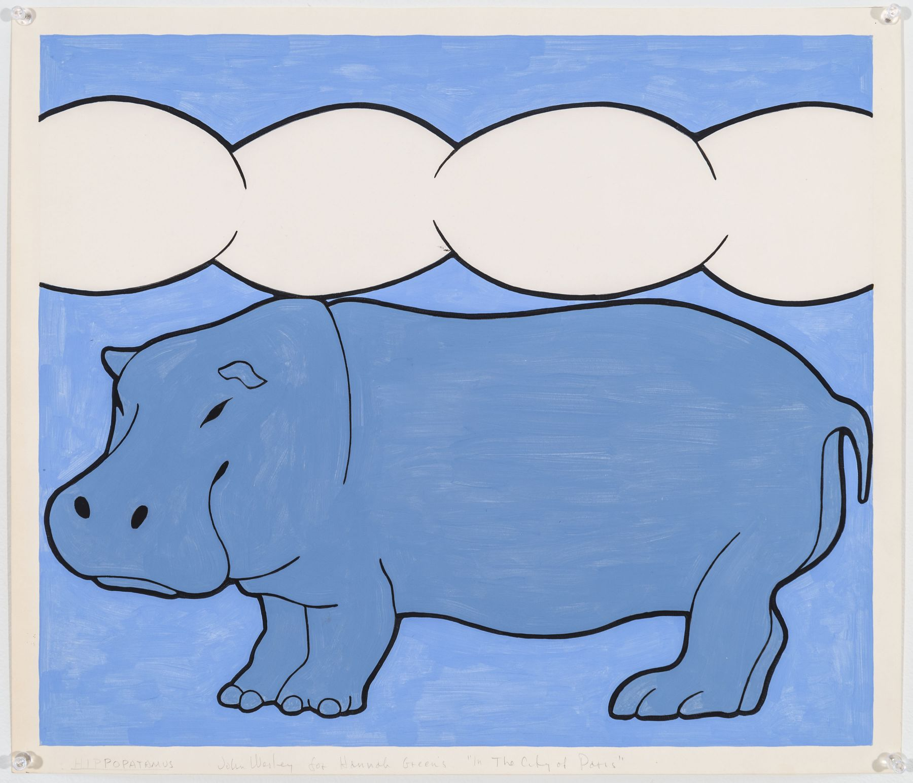 John Wesley, Hippopotamus, c. 1979