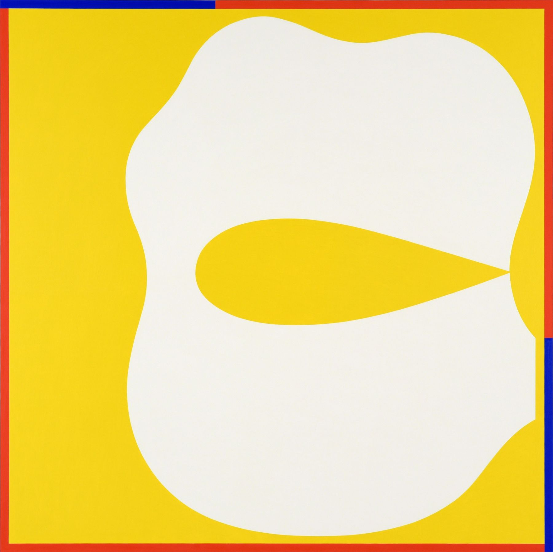 Cary Smith, Shape #3 (yellow with red-blue border), 2017