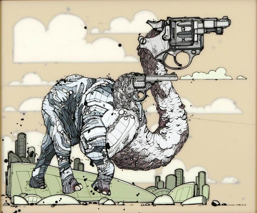 Nicholas Di Genova, Bi-Necked Six-Shooter Elephant