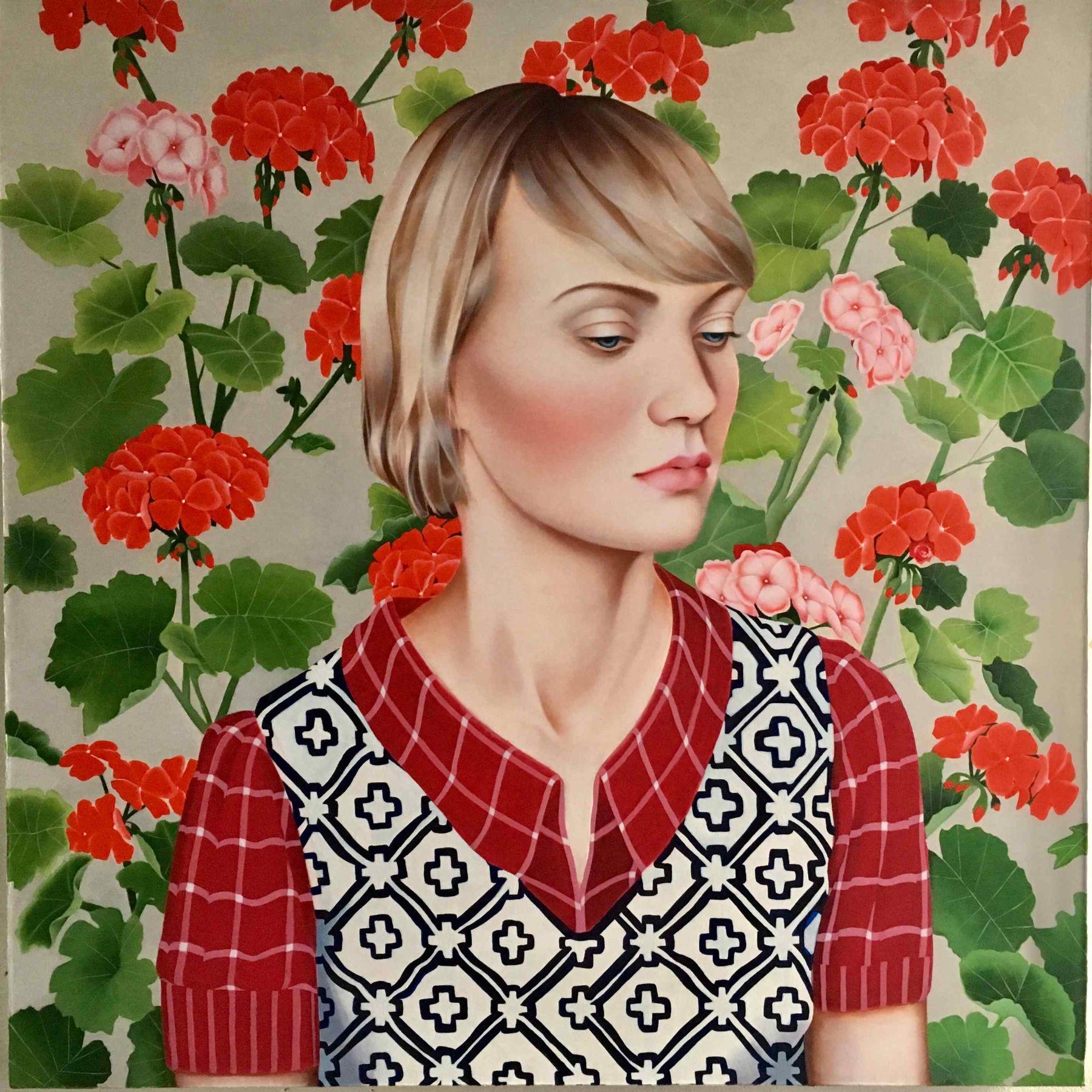 Jocelyn Hobbie, Ruby Lake (Geraniums), 2017