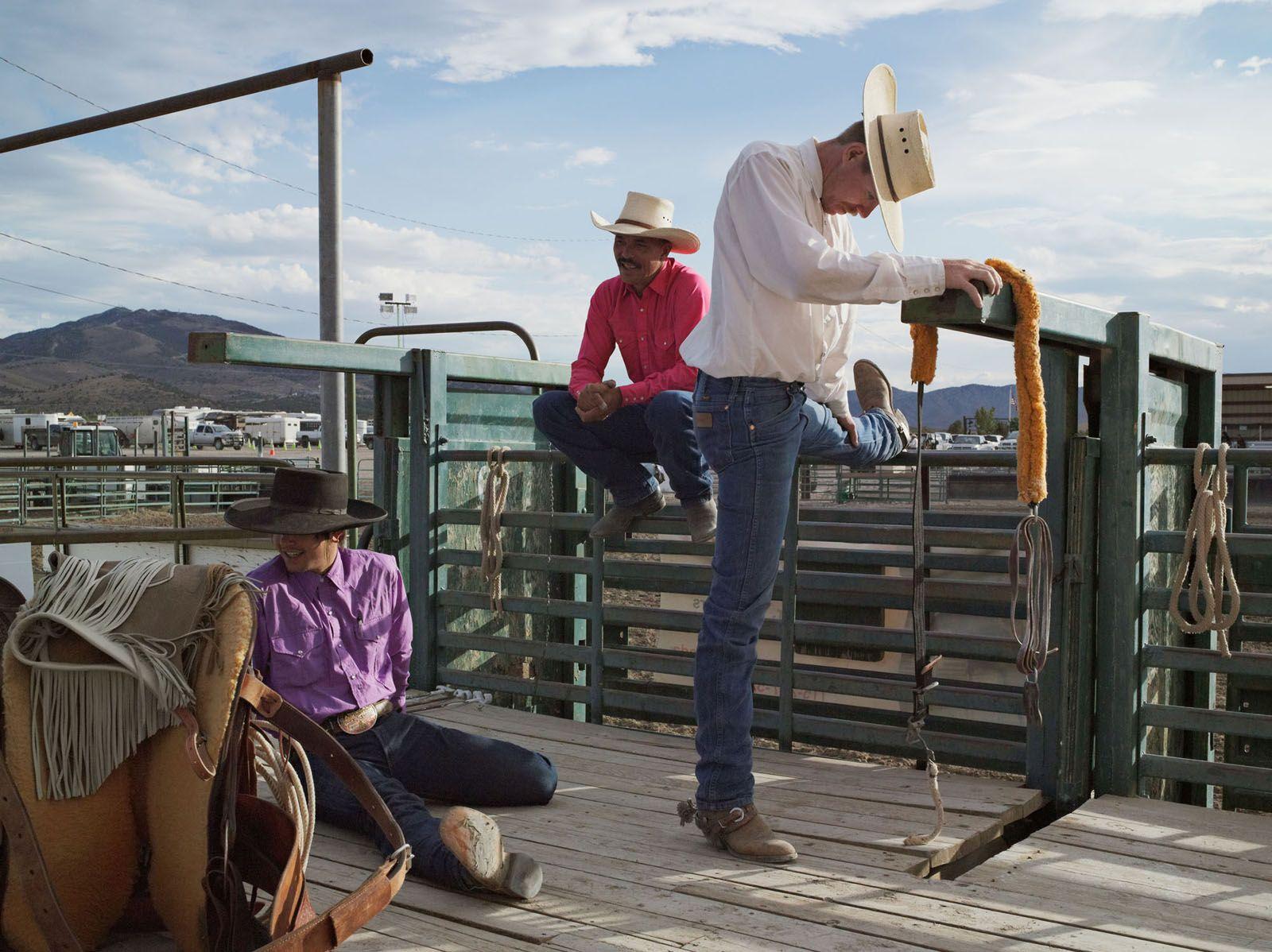 LUCAS FOGLIA, Dakota, Michael, and Jesse, Bronc Riders, Eureka County Fair, Eureka, Nevada, 2012