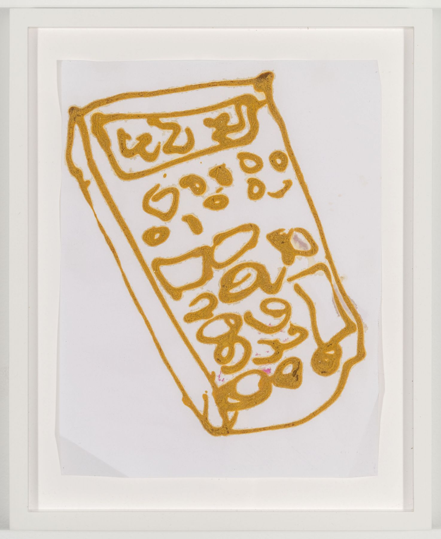 BRIAN BELOTT, Mustard Drawing (Calculator No. 2),2015