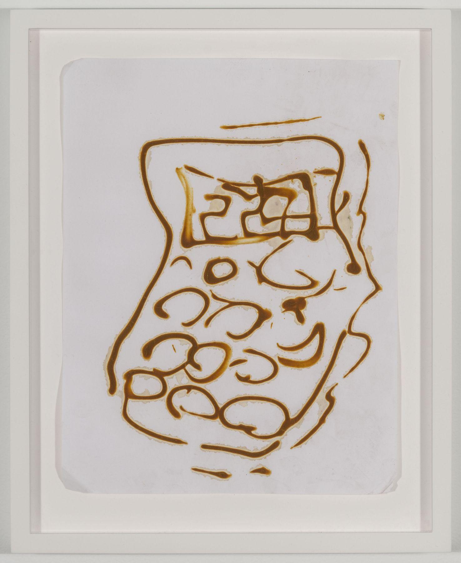 BRIAN BELOTT, Mustard Drawing (Calculator No. 1),2015