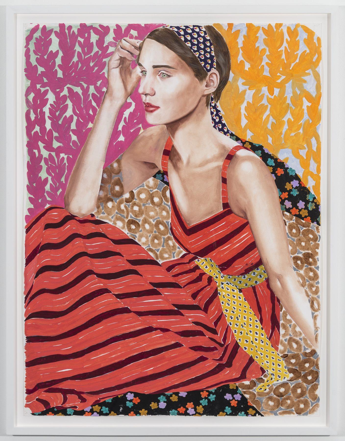 Jocelyn Hobbie, Red Stripe Dress, 2019