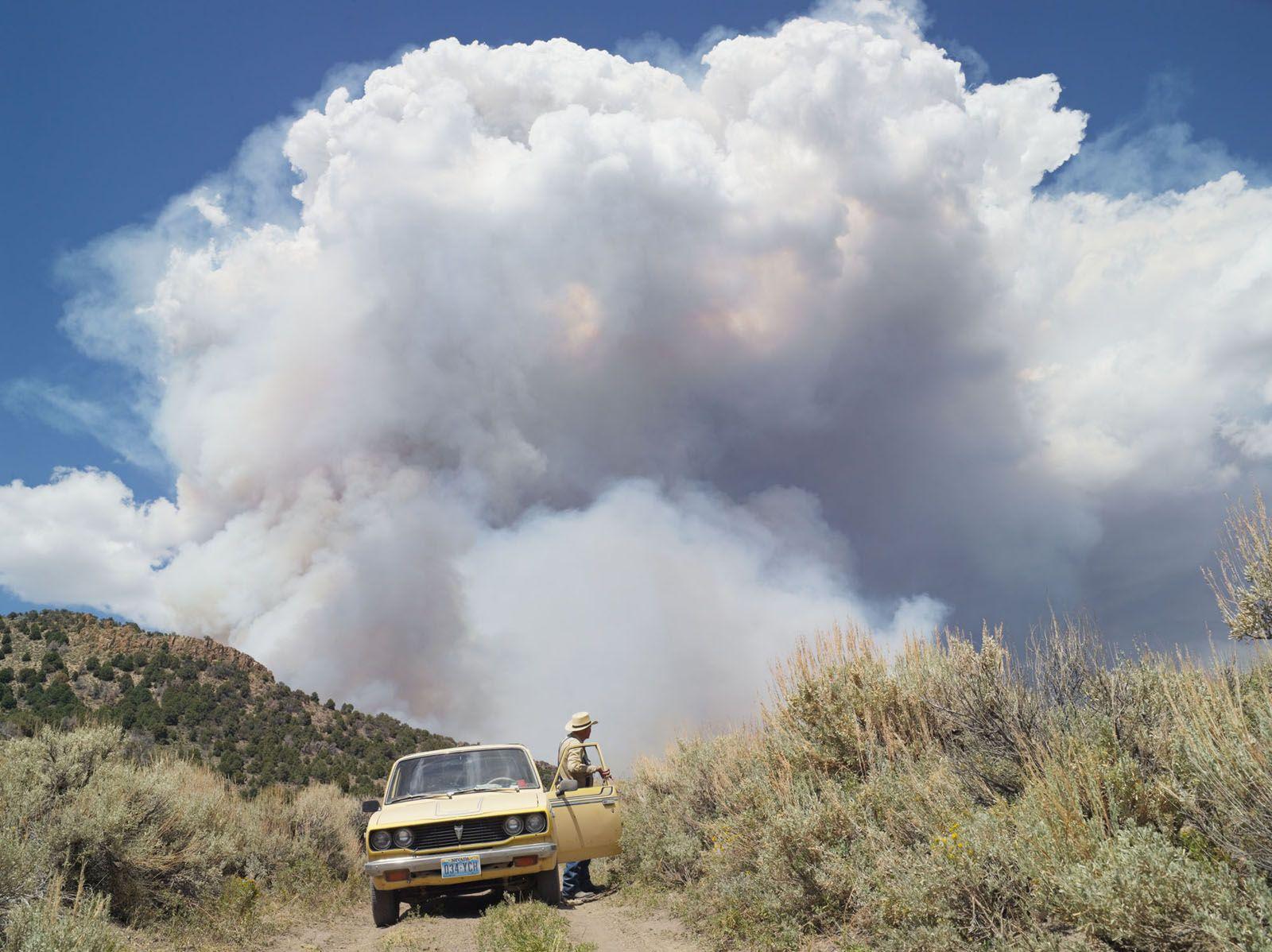 LUCAS FOGLIA, George Chasing Wildfires, Eureka, Nevada, 2012
