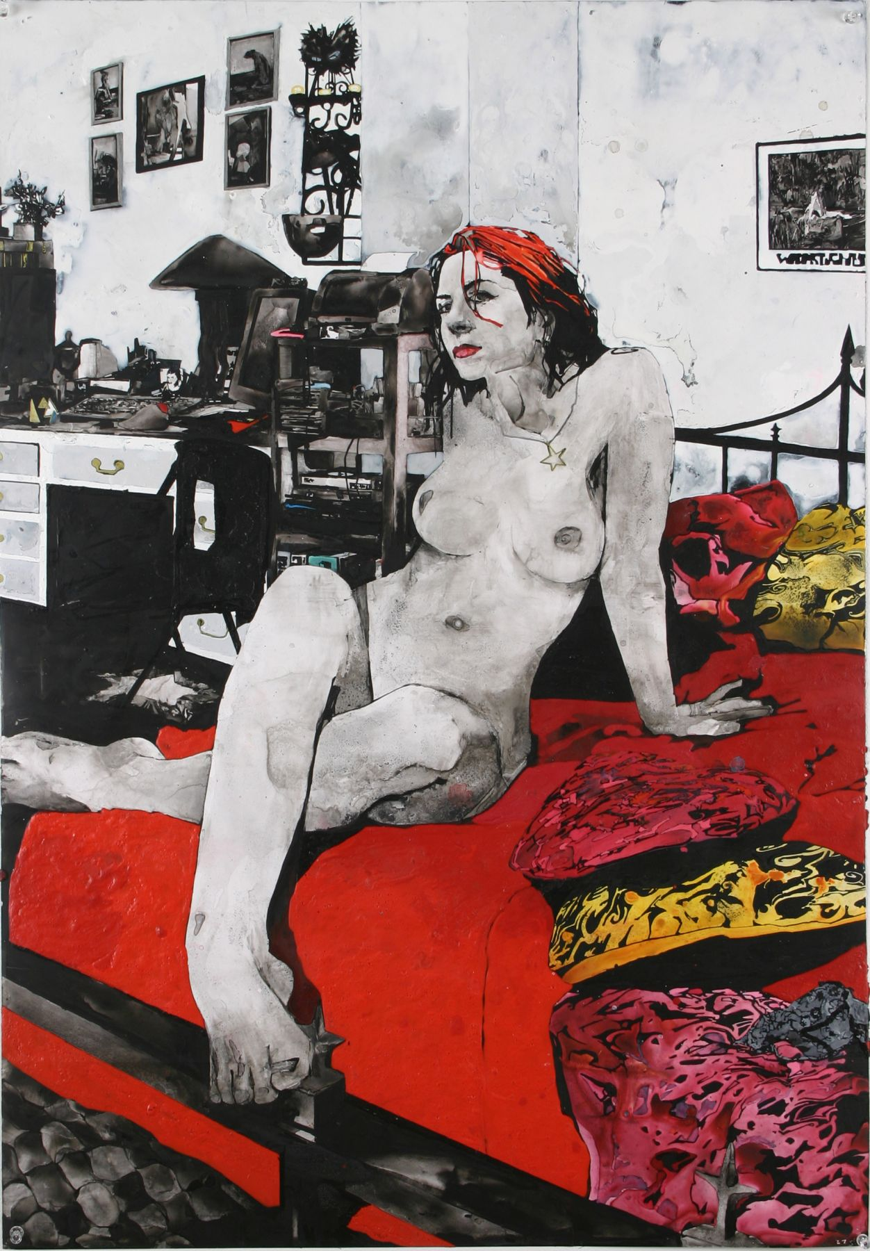 Zak Smith, Girls in the Naked Girl Business: Amber, 2004