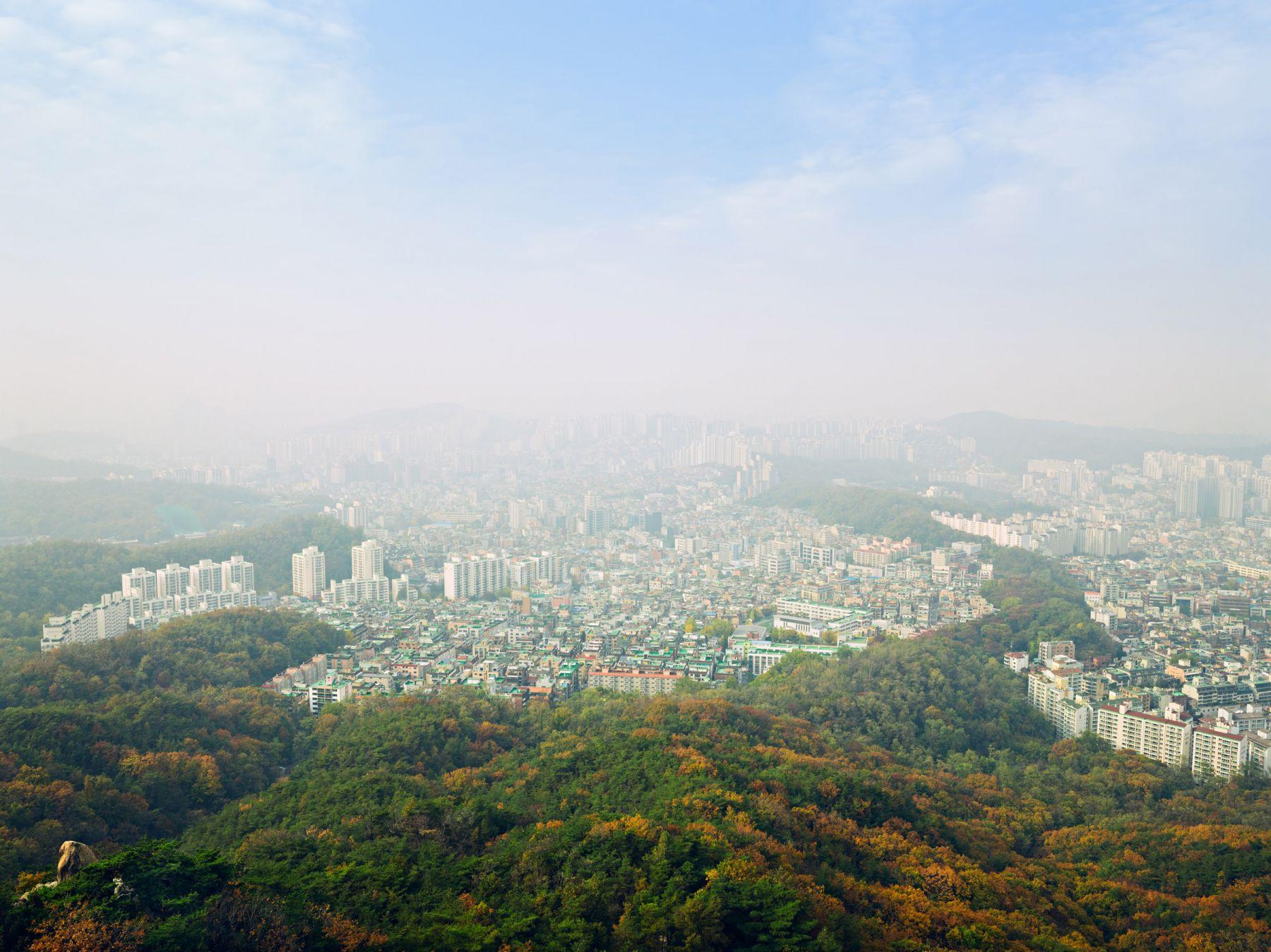 LUCAS FOGLIAUrban Greenway in Seoul, South Korea, 2014, Pigment Print34 x 44 inchesEdition of 8