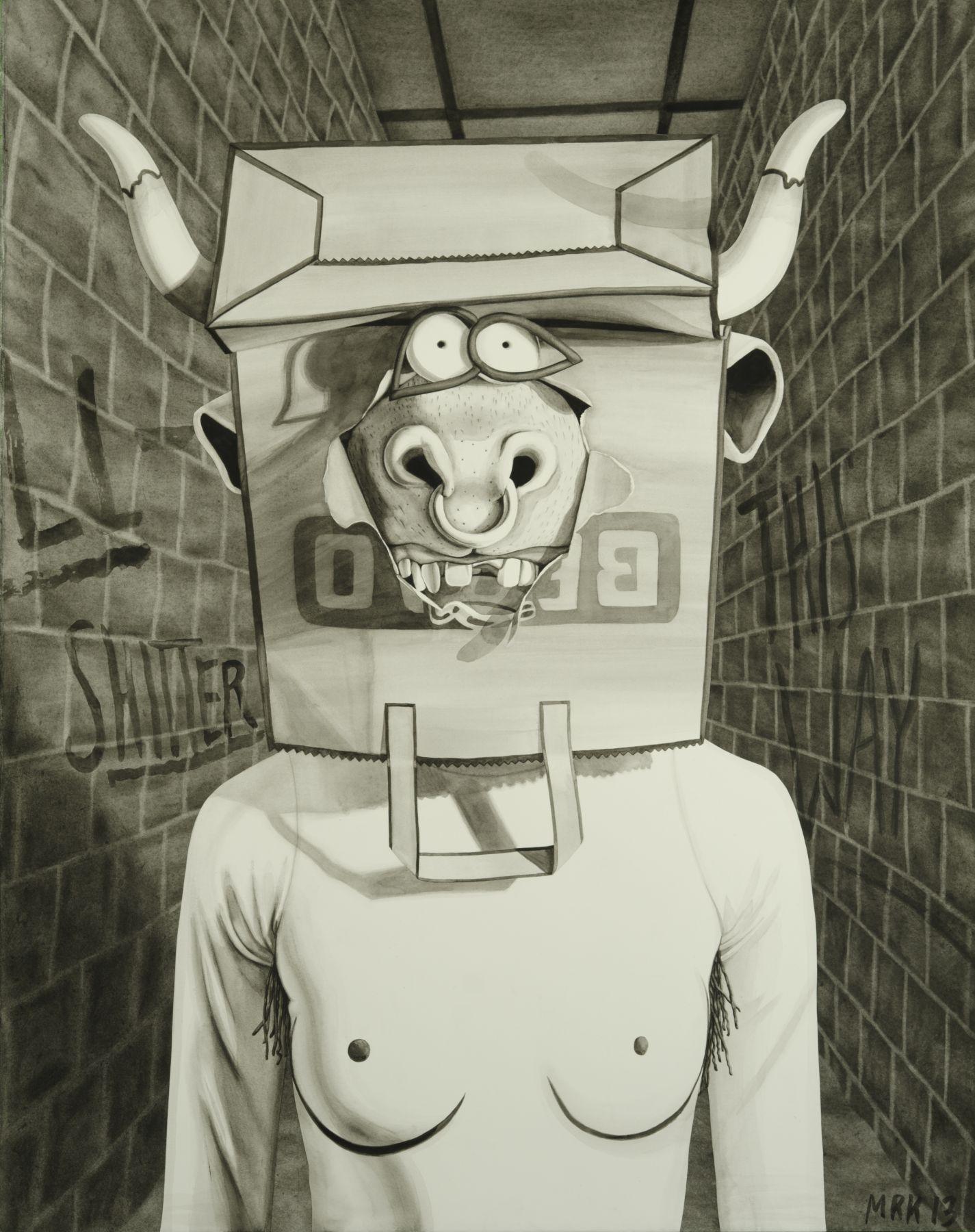 MARY REID KELLEY, Minotaur in Labyrinth,2013