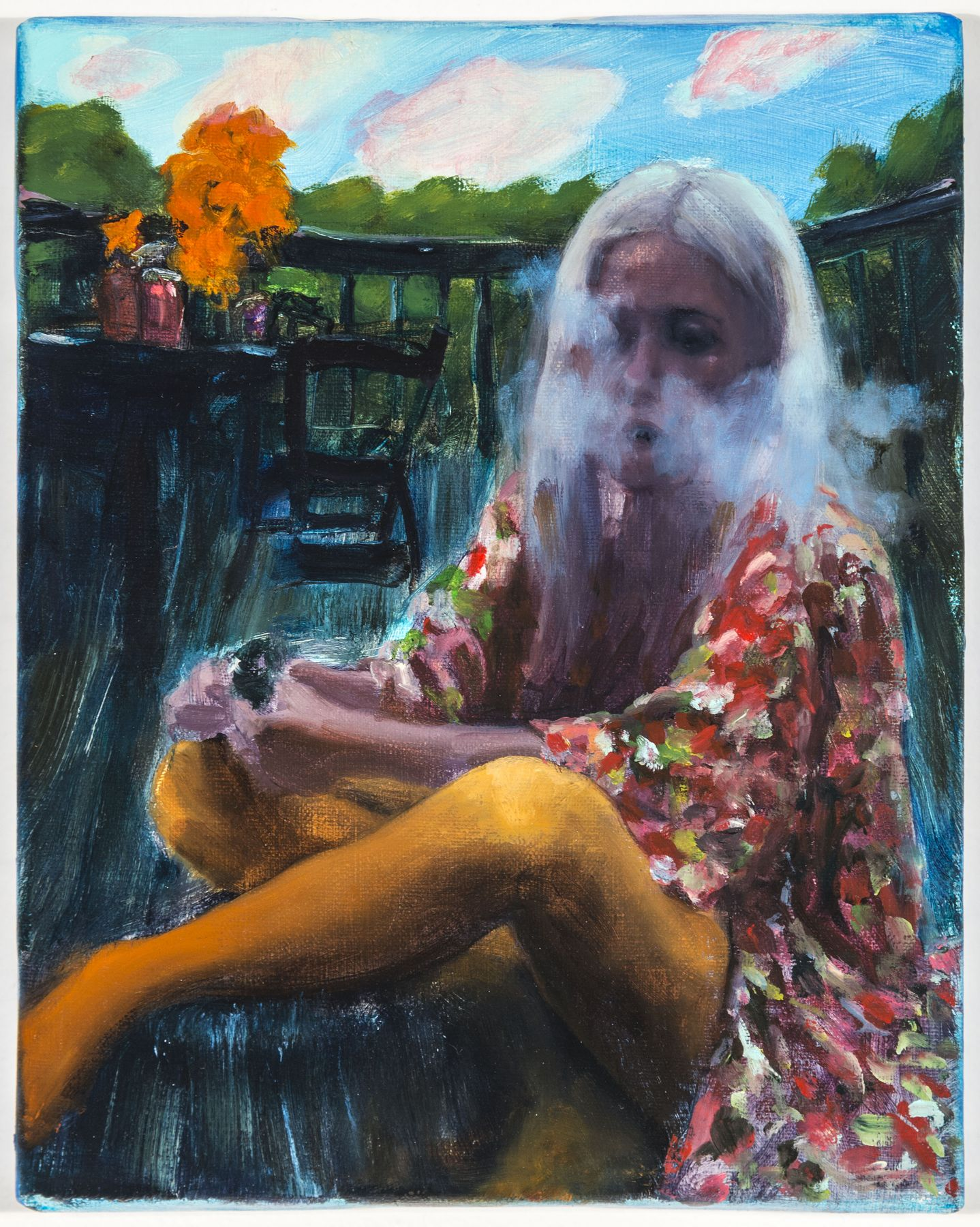 You Won't See Through Her Smokescreen, 2018, Oil on linen