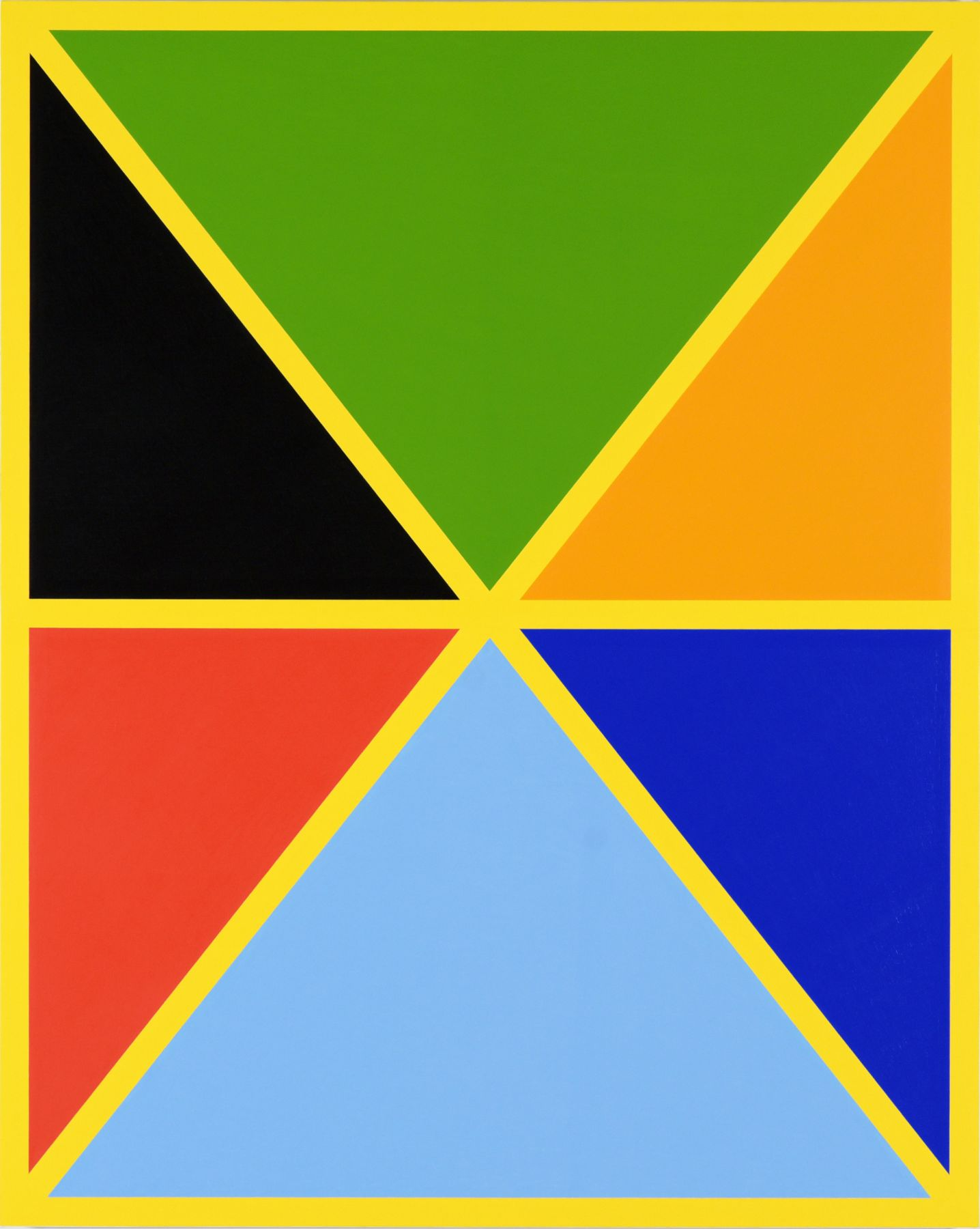 Cary Smith, Diagonals (with 7 colors) #1, 2017