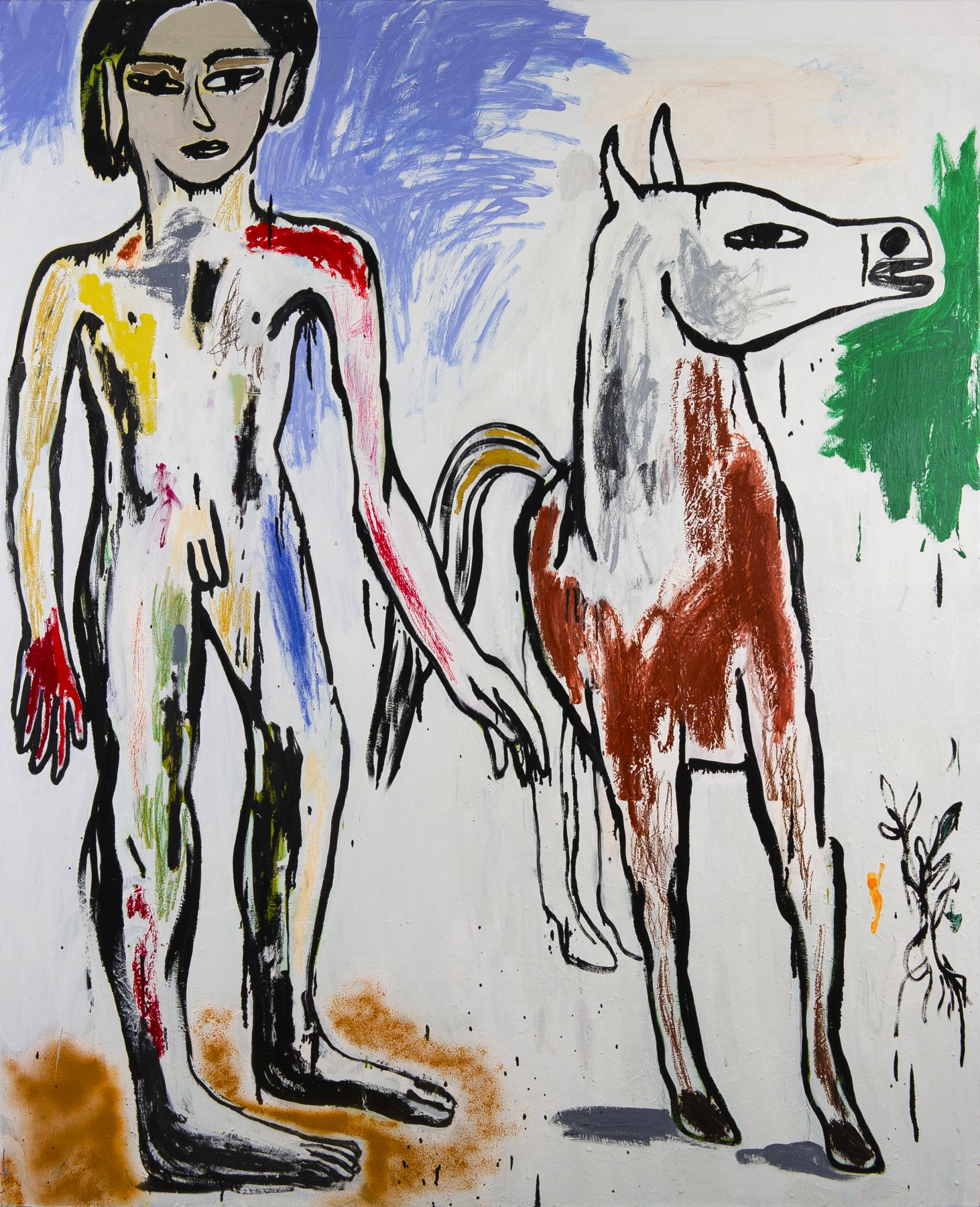 Cristina de Miguel, Boy Leading a Horse, 2016