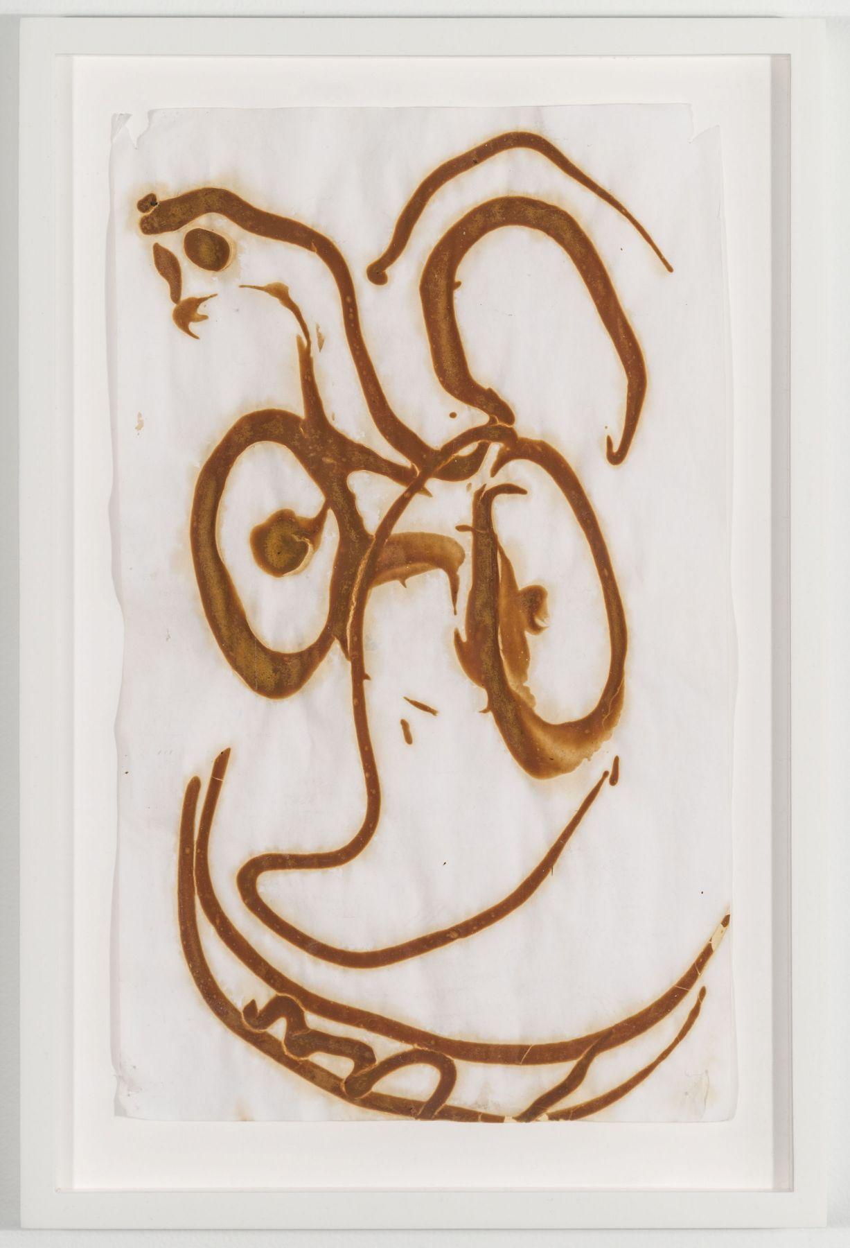 BRIAN BELOTT, Mustard Drawing (Face),2015