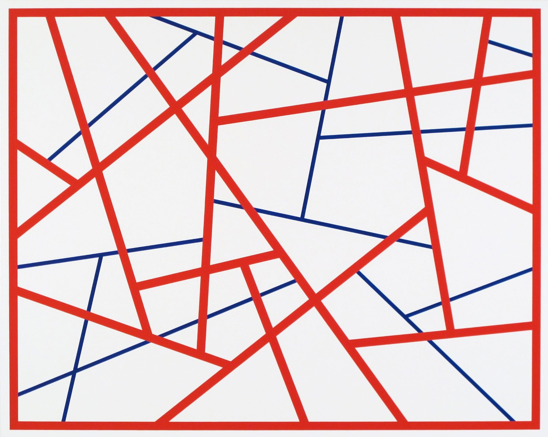 Cary Smith Straight Lines #9 (red-blue), 2014