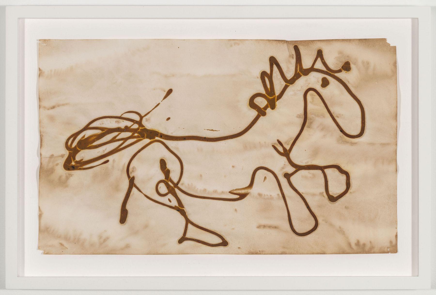 BRIAN BELOTT, Mustard Drawing (Horse No. 1),2015