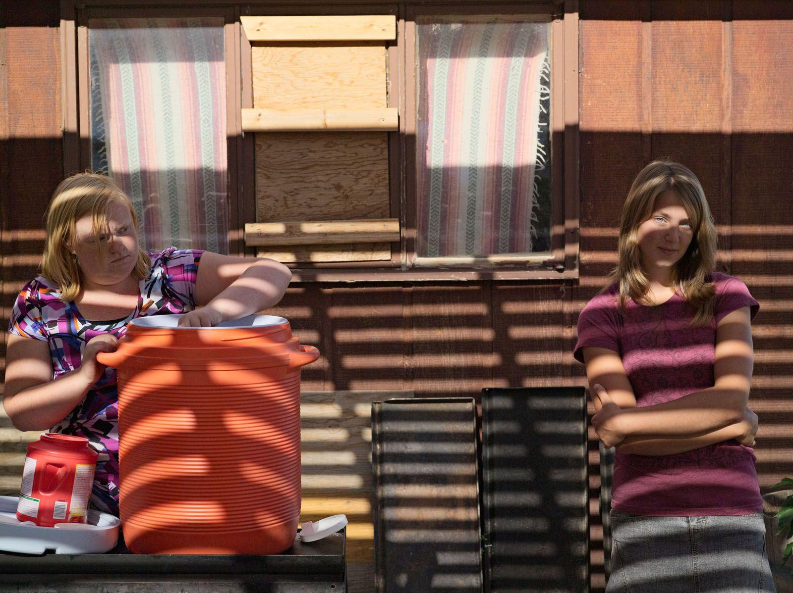 LUCAS FOGLIA, Mikaela and Annie, Baptist Camp Meeting, Clark, Wyoming, 2010