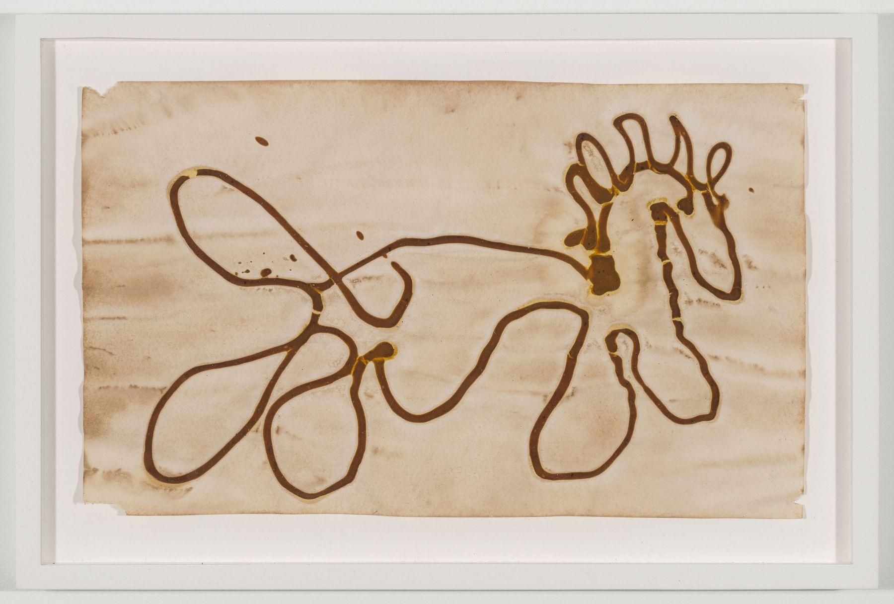 BRIAN BELOTT, Mustard Drawing (Horse No. 2),2015
