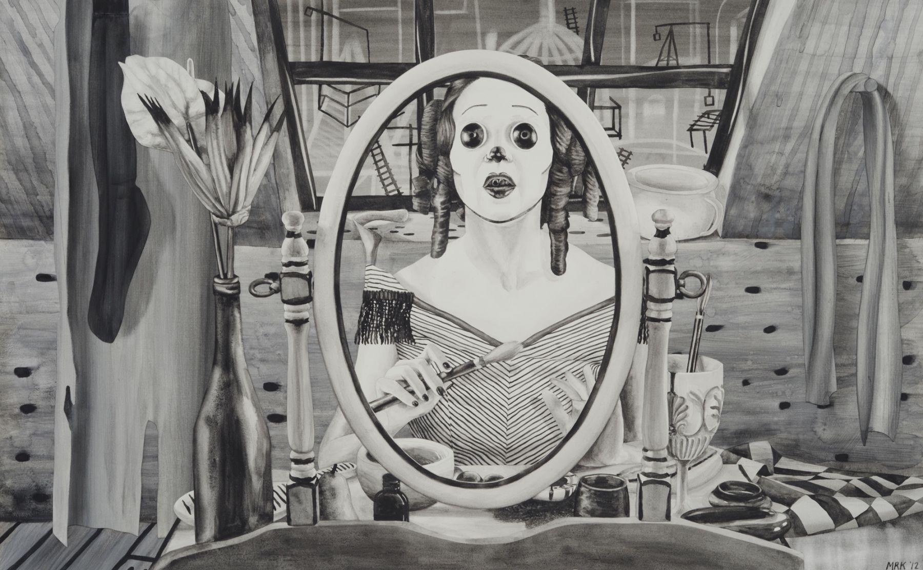MARY REID KELLEY, Sisyphus at her Toilette,2012