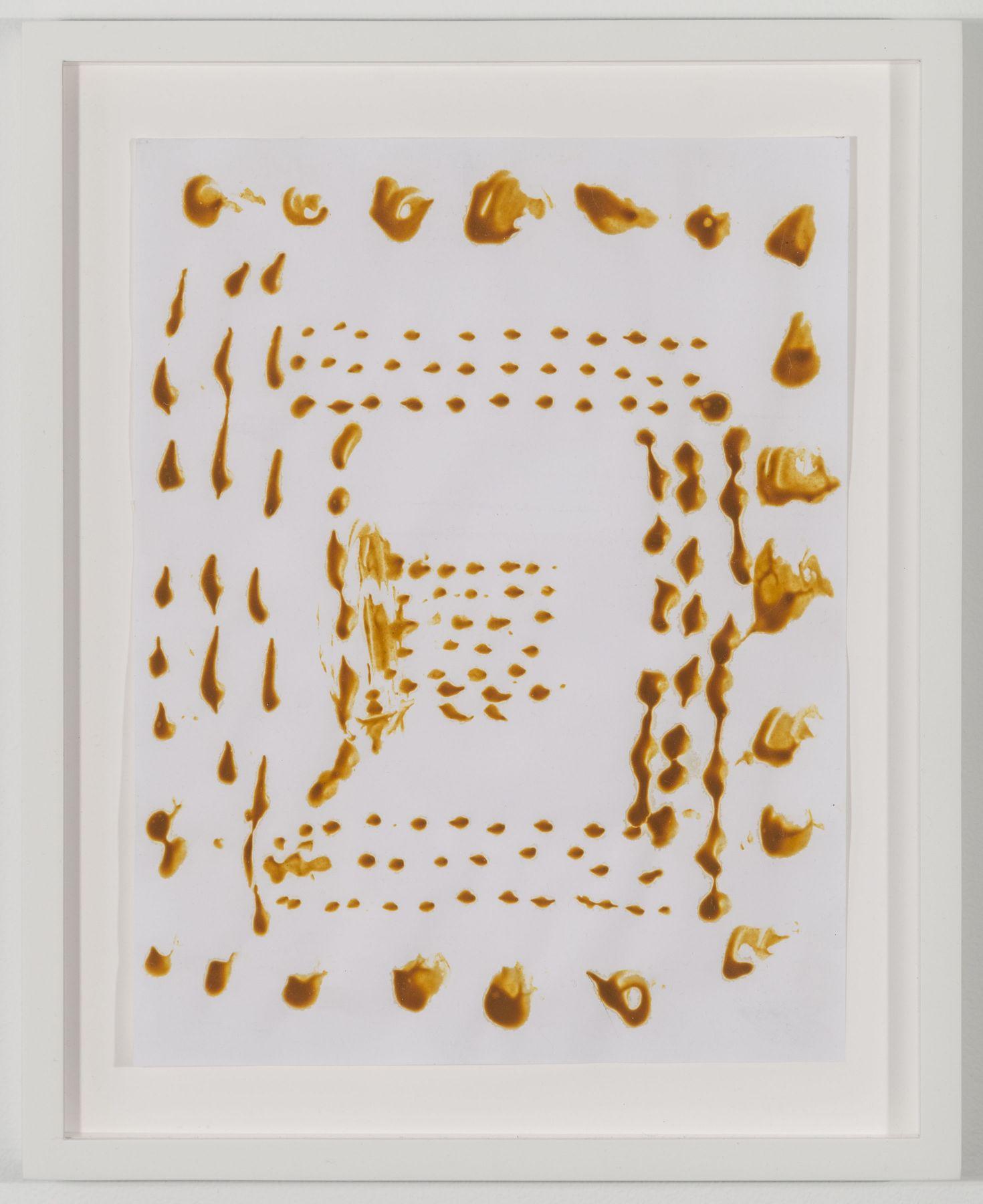 BRIAN BELOTT, Mustard Drawing (Dots),2015
