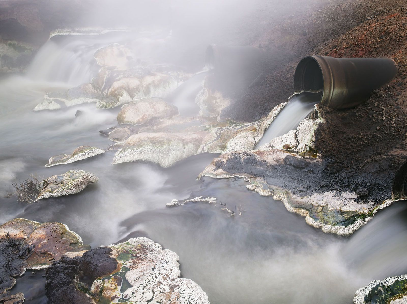 LUCAS FOGLIA, Produced Water, Hamilton Dome Oil Field, Owl Creek, Wyoming, 2013