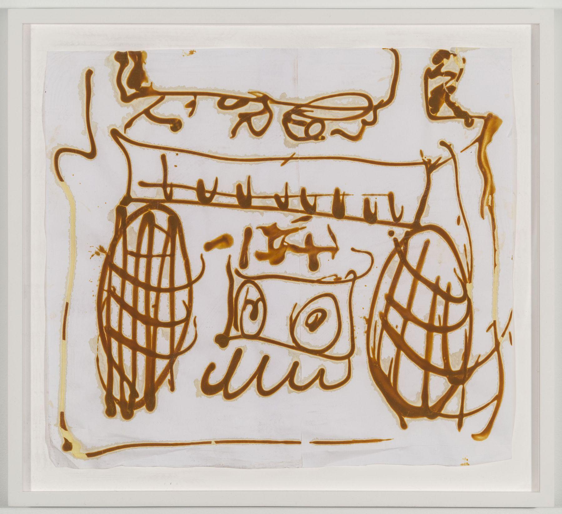 BRIAN BELOTT, Mustard Drawing (Boombox),2015
