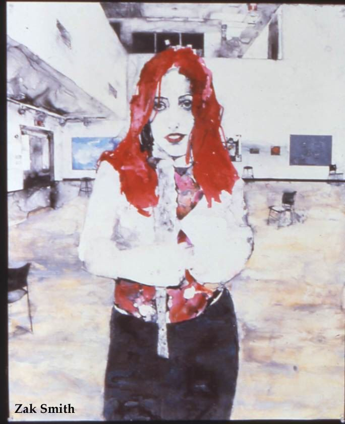 Zak Smith, Clarissa Looking Like a Pink Floyd Groupie, 2001