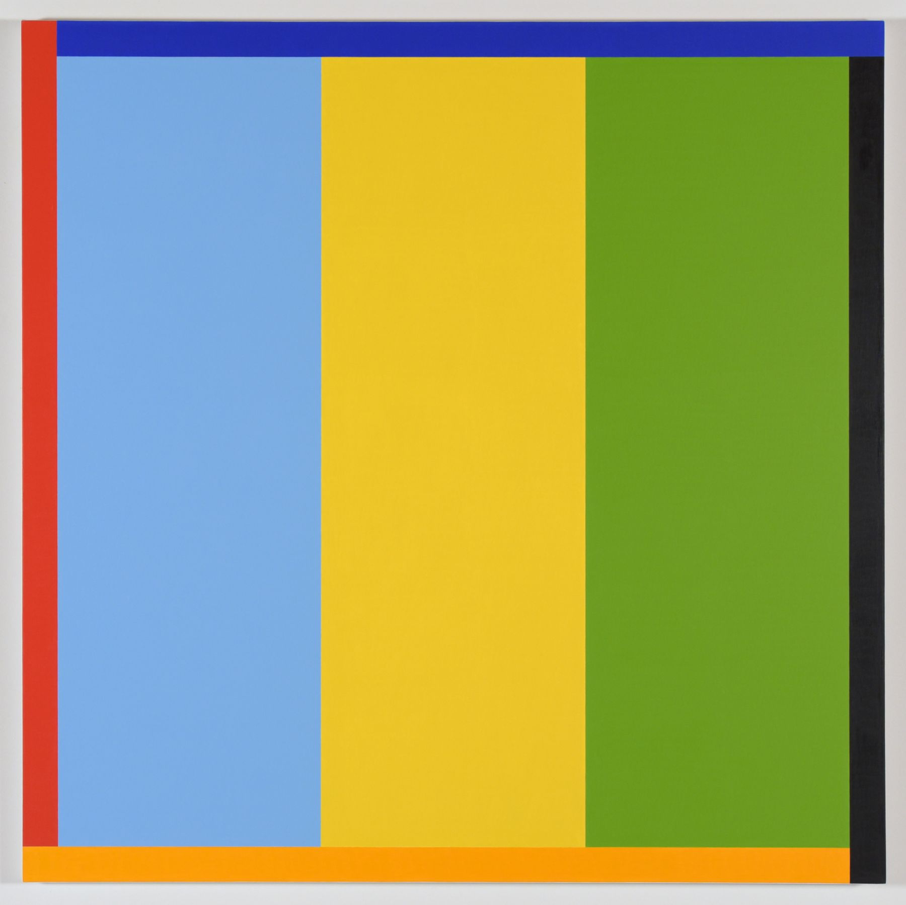 Cary Smith, Stripes #3 (with 4 color border), 2016