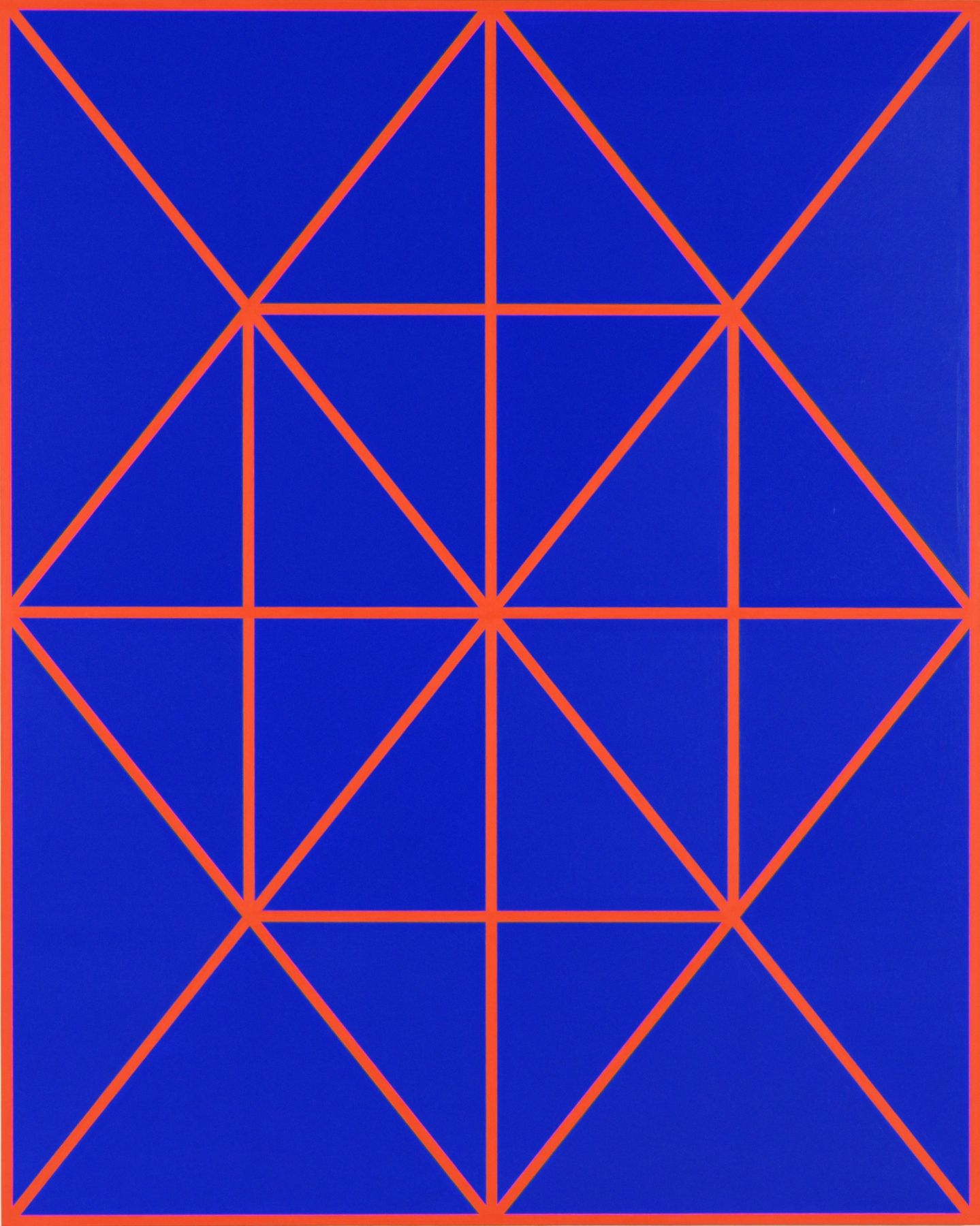 Cary Smith, Complex Diagonals #8 (blue-red), 2017