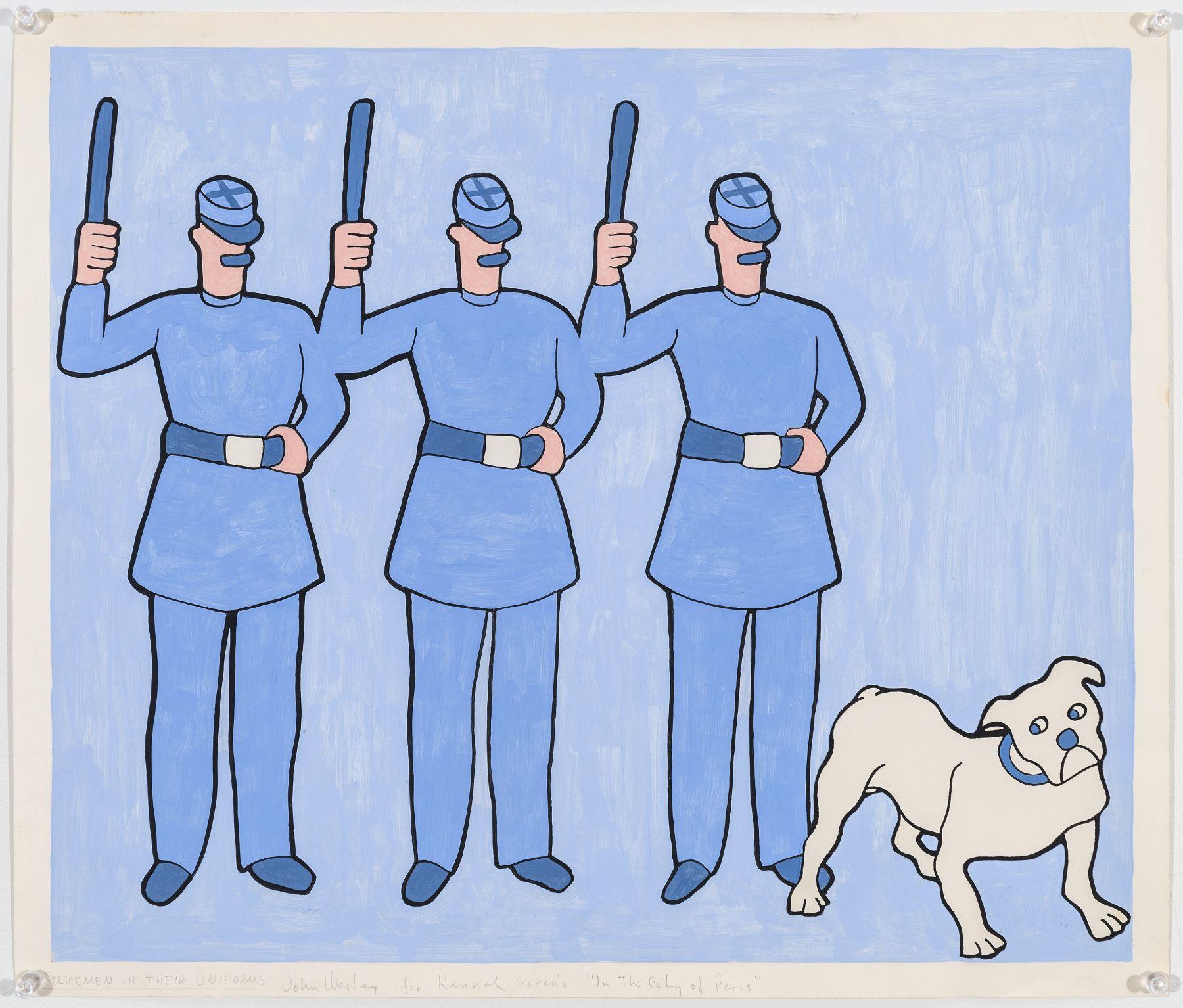 John Wesley, Policemen in their Uniforms, c. 1979