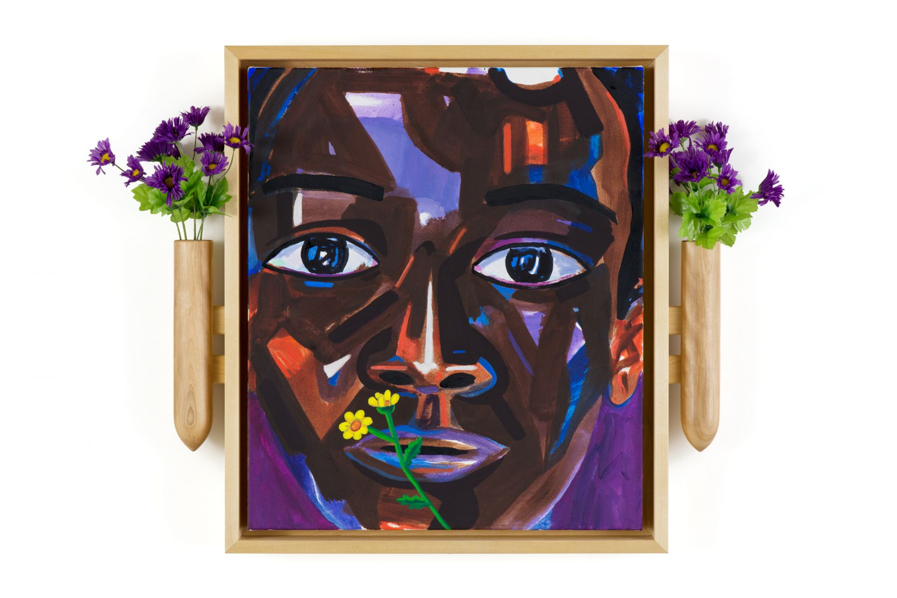Lamar Peterson, A Young Man with Flowers, 2016