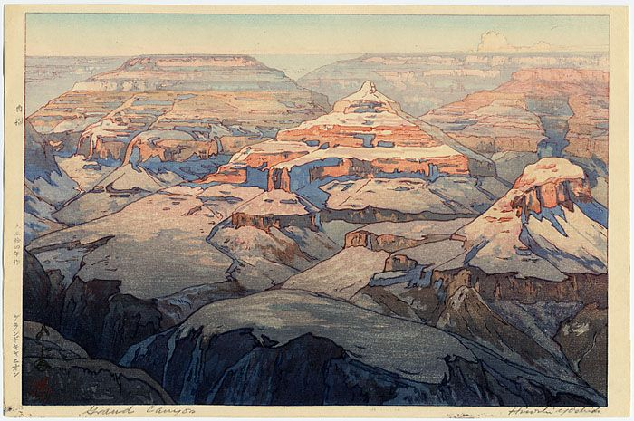 Hiroshi Yoshia, Grand Canyon, Grand Canyon National Park, western art, woodblock print