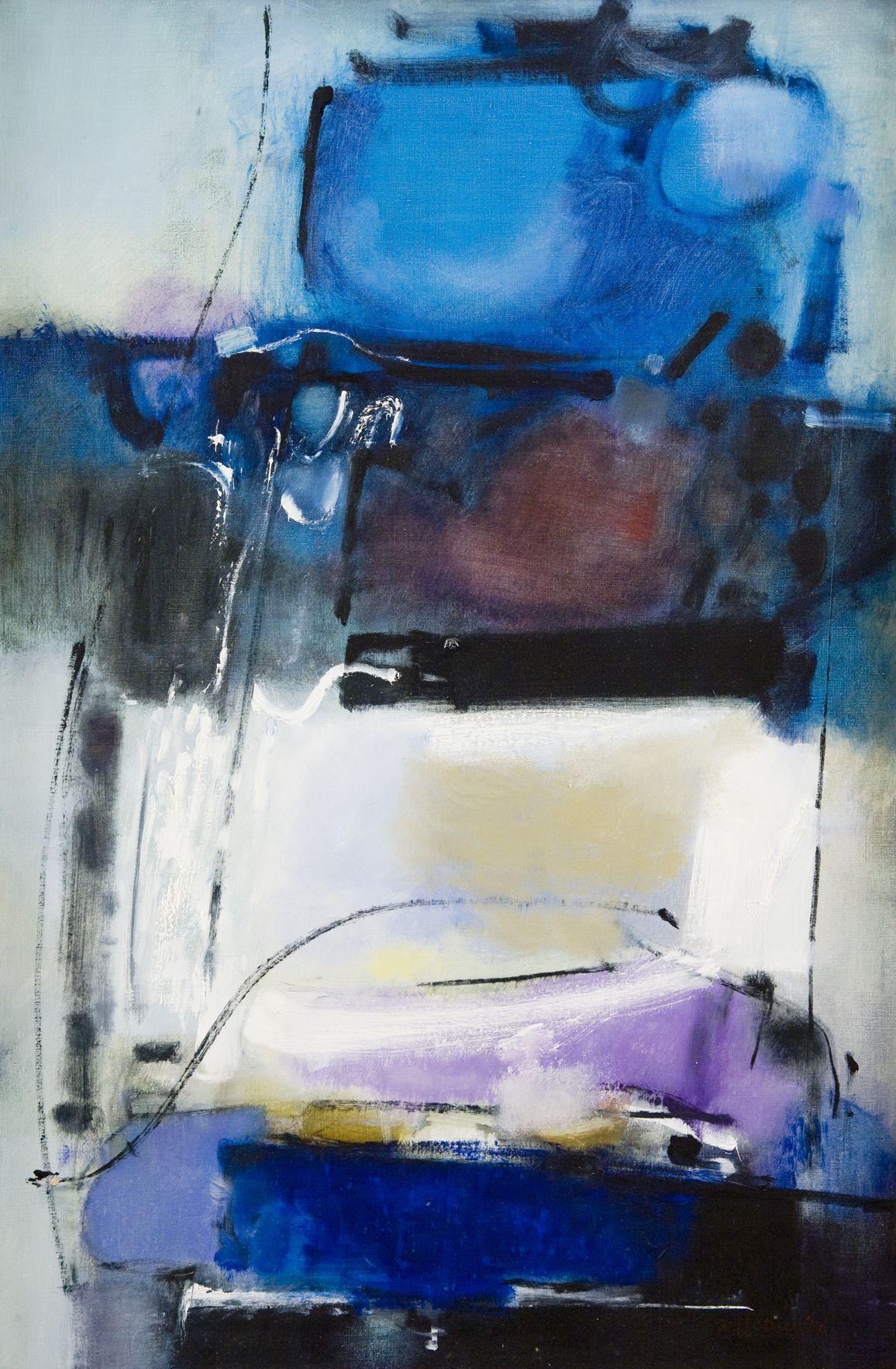 Lee Deffebach, Roman Bath, Abstract Expressionism, utah artist, utah art