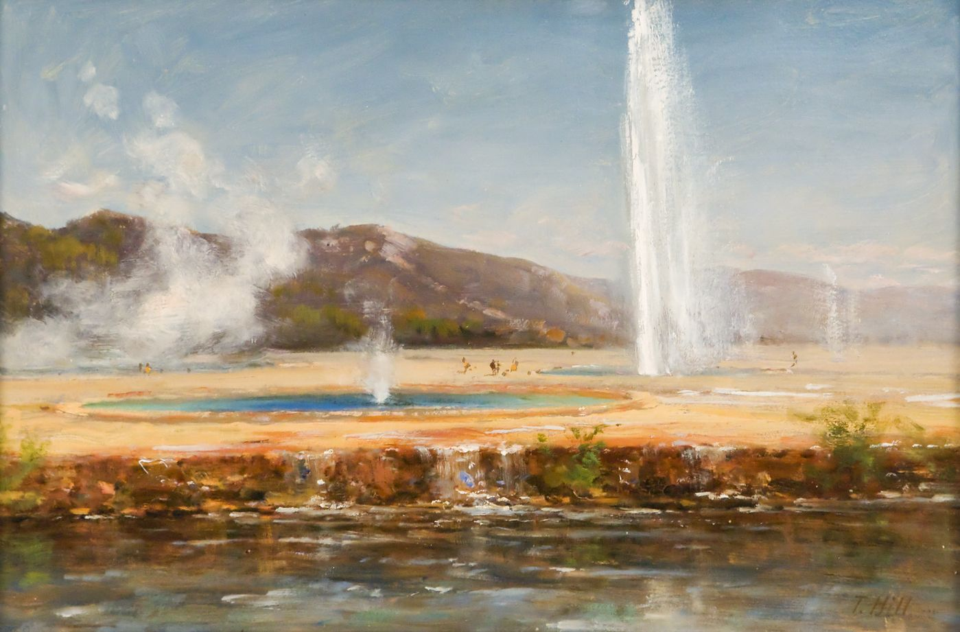 Thomas Hill, Yellowstone Geysers, National Parks, Yellowstone National Park, western art