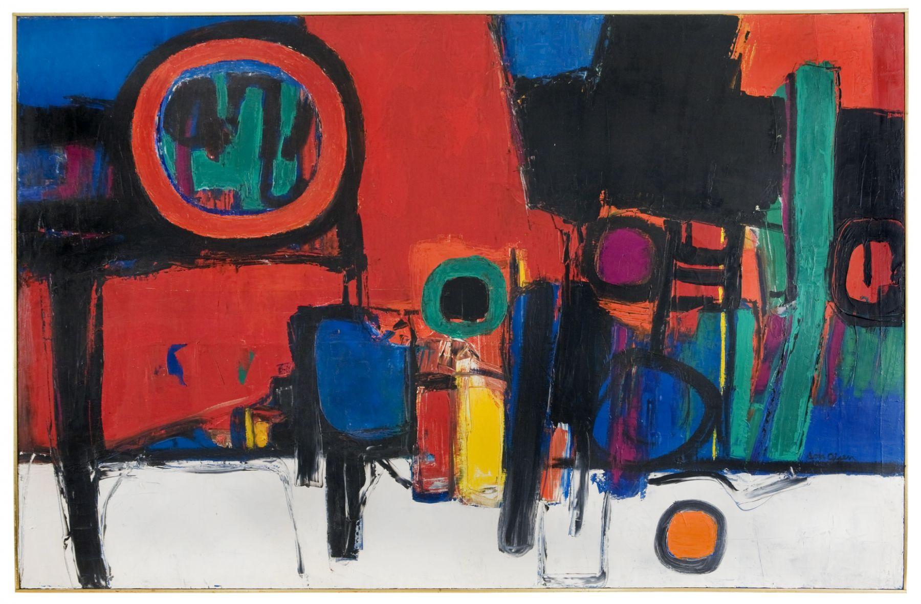 Don Olsen, utah artist, utah art, abstract expressionist,