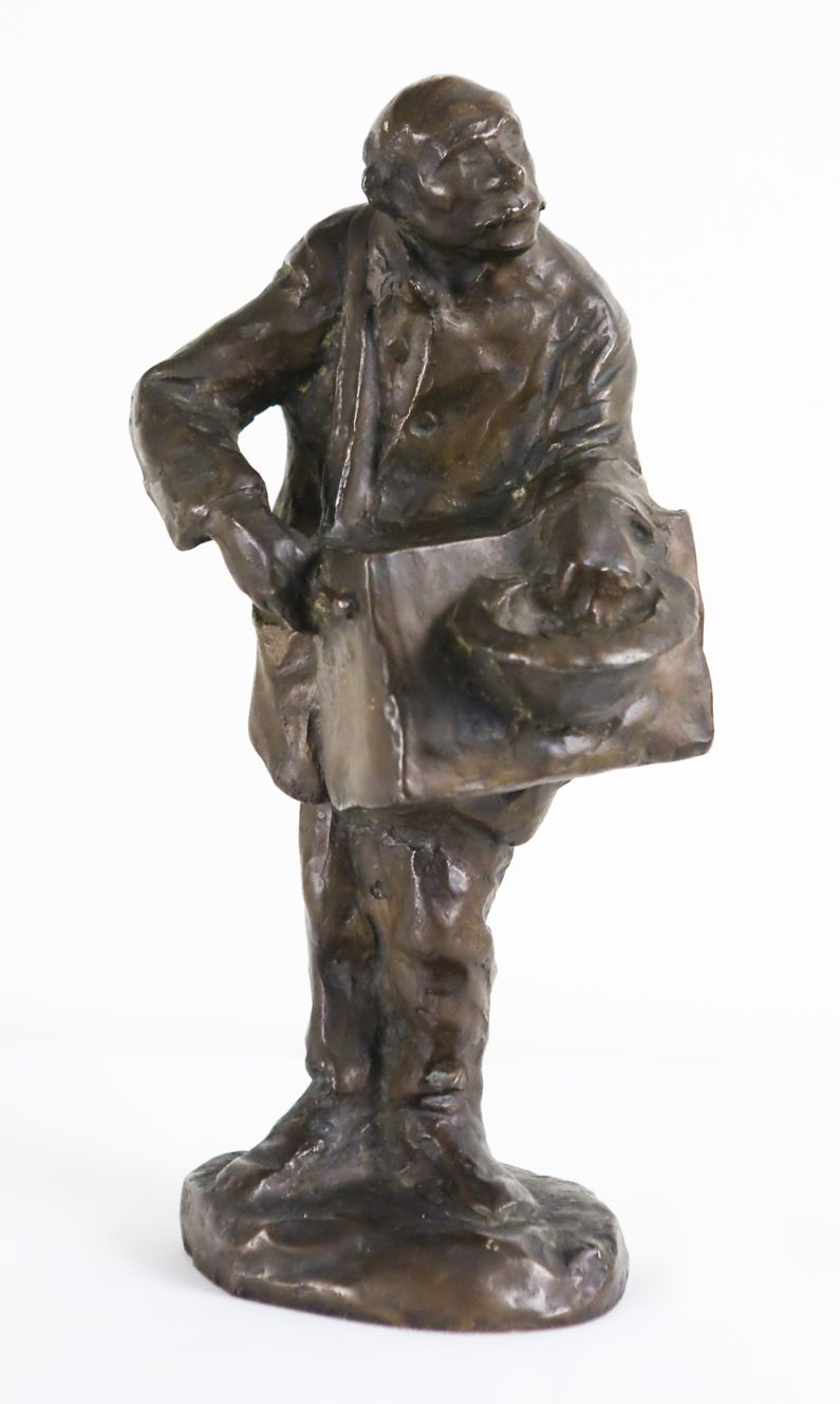 Mahonri Macintosh Young, The Organ Grinder, bronze sculpture, Utah artist, pioneer artist