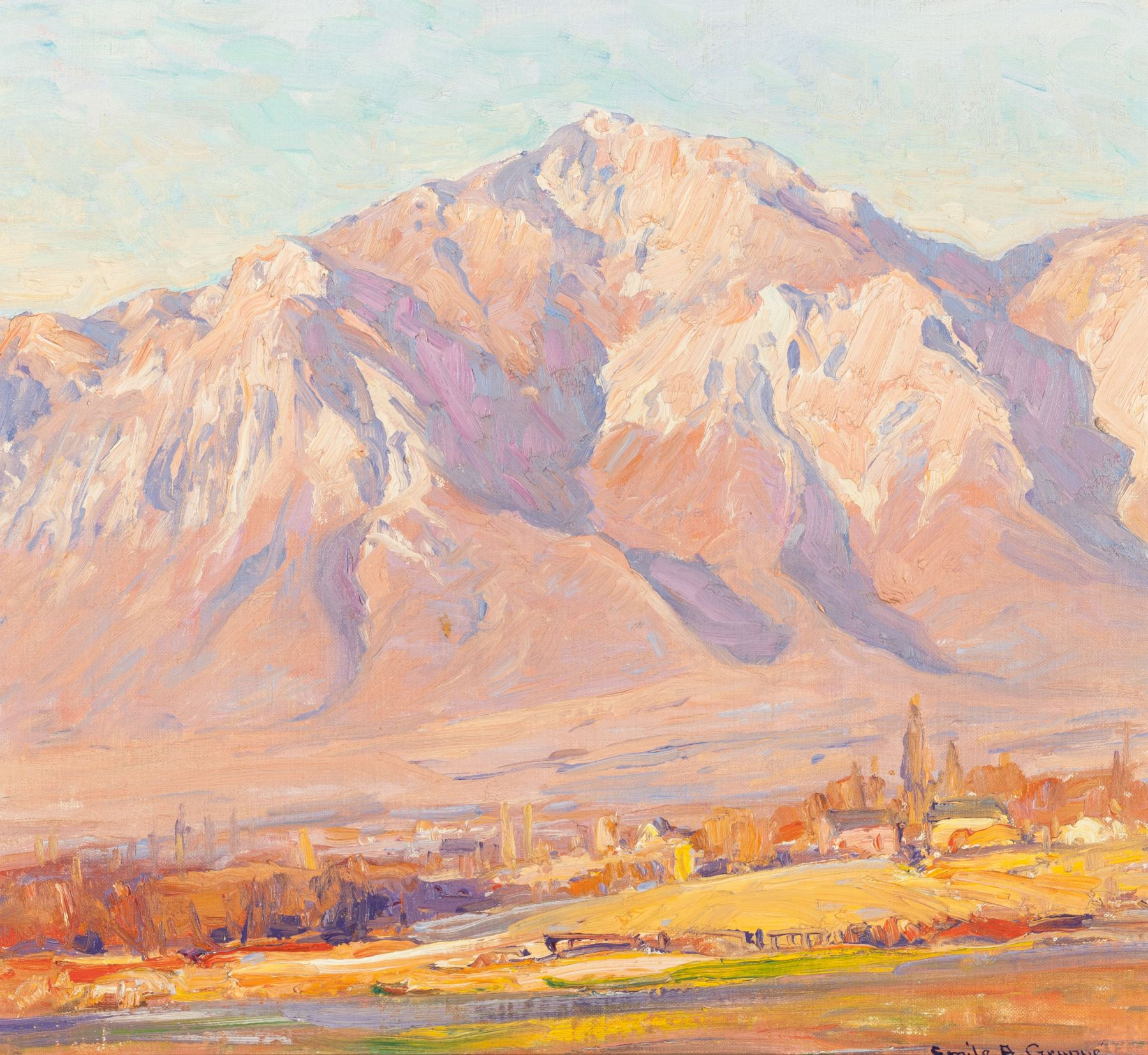 Emile A Gruppe, Ben Lomond, Utah, Utah landscape, utah art,