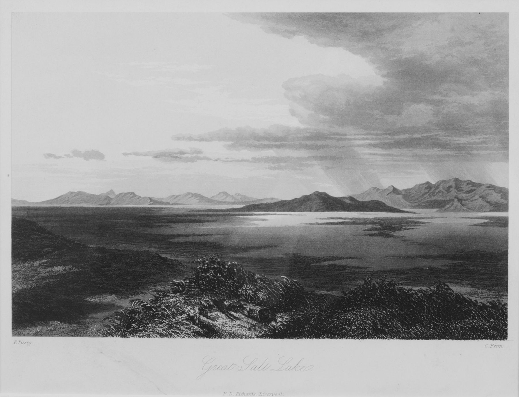The Great Salt Lake, Pioneer, Utah Art