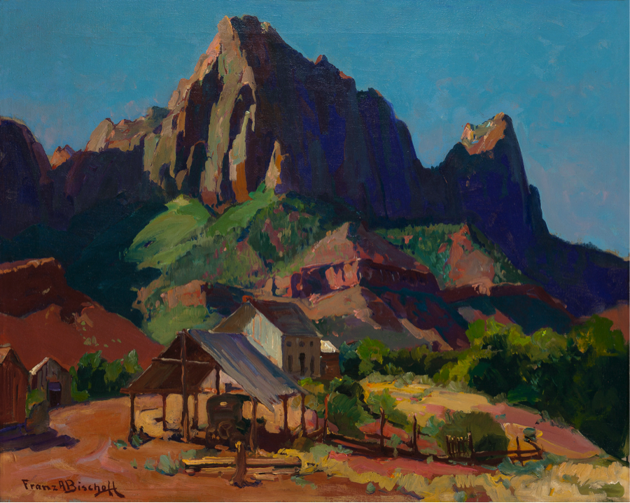 Franz Bischoff, The Watchman, Zion National Park, Utah, utah art, national parks, oil painting