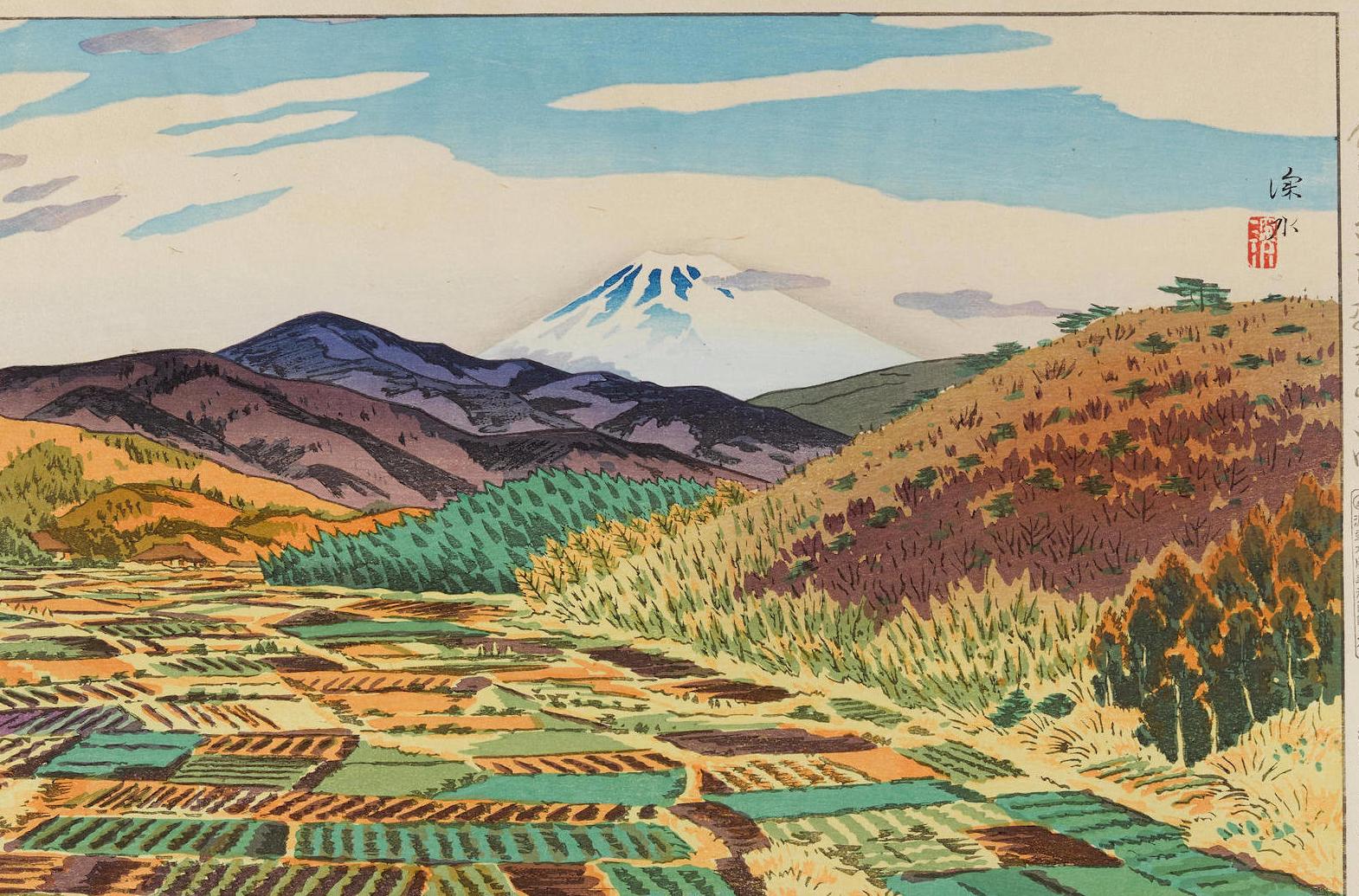 Shinsui Ito, woodblock print