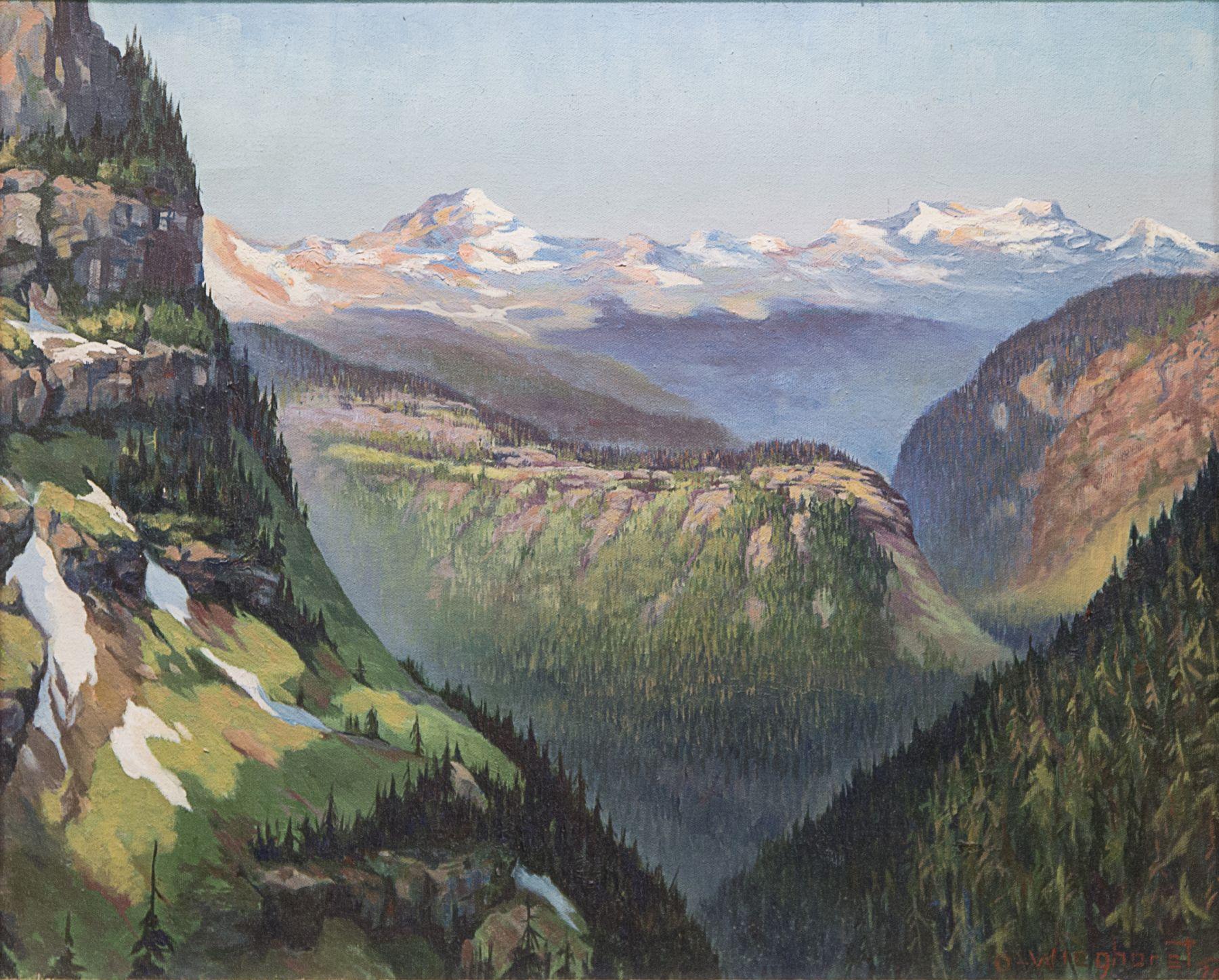 Olaf Wieghorst, Glacier National Park, Montana, western art, landscape