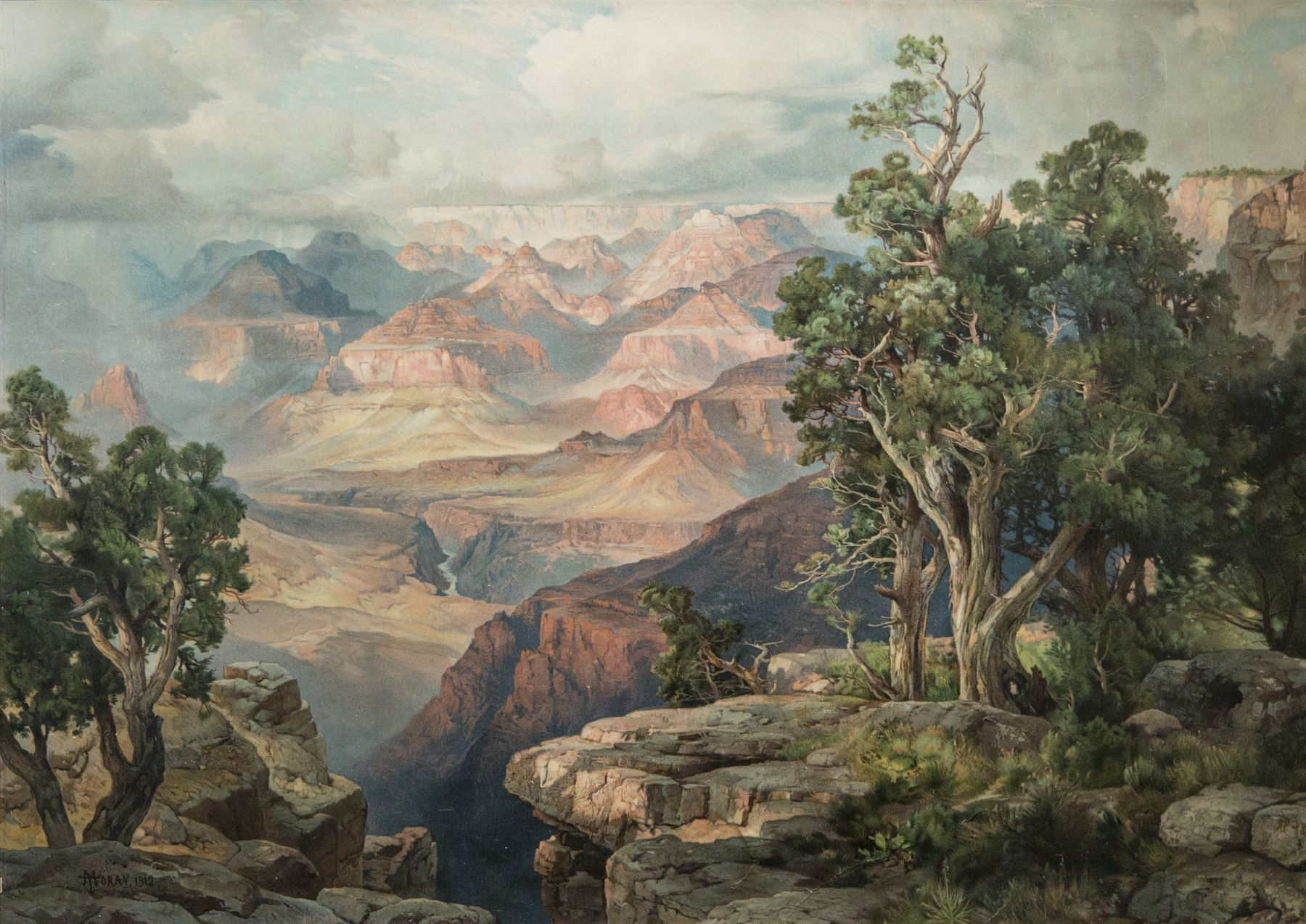 Thomas Moran, The Grand Canyon of 1912, Grand Canyon National Parks, National Parks, western art, chromolithograph