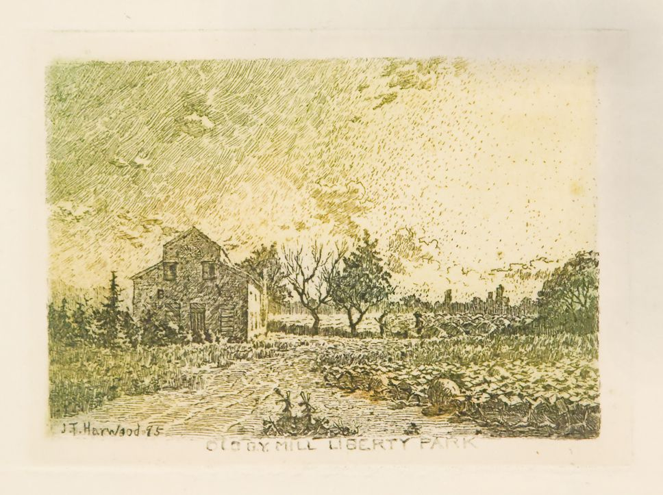 James T. Harwood, Old BY Mill Liberty Park, Utah, J.T. Harwood, Utah artist, Utah art, Salt Lake City, Pioneer art