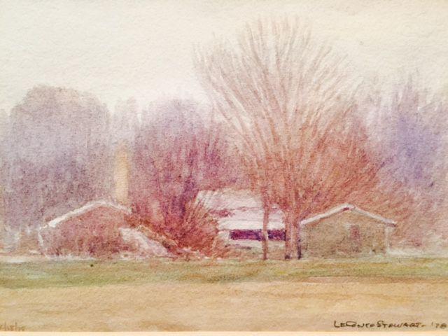 LeConte Stewart, Utah, Utah art, Utah artist,
