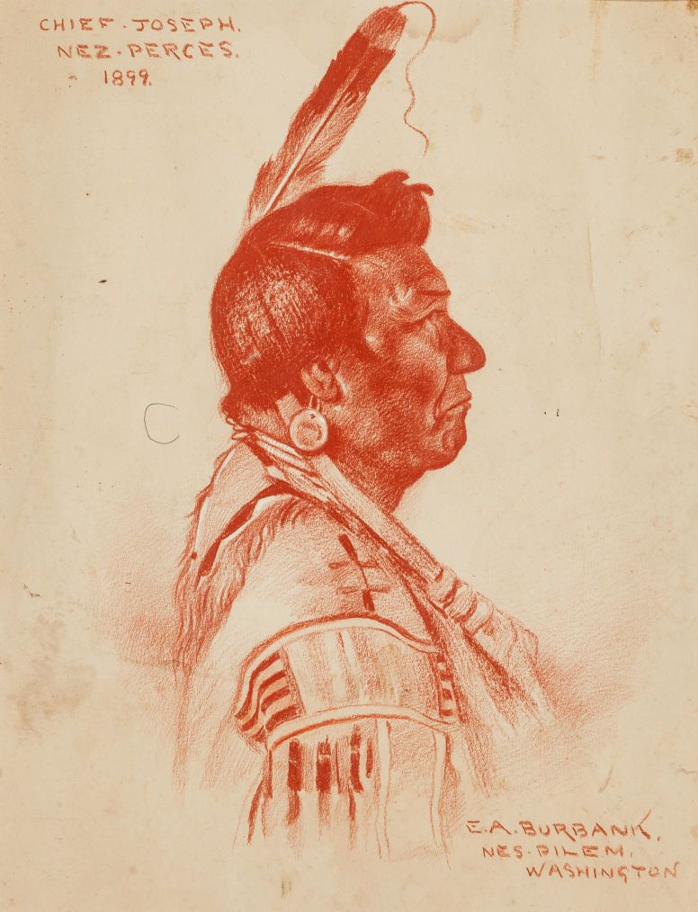 Chief Joseph, Nez Perce, native american art, Elbrigde Albert Burbank, 1899,